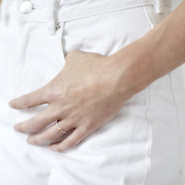 Ring met  citrien baguette - Nolda Vrielink
