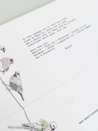 10 kaarten met verschillende vogeltjes - Maartje van den Noort