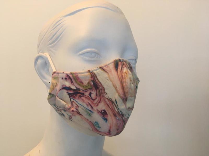 Mondkapje roze gemêleerd - Paula Kijne