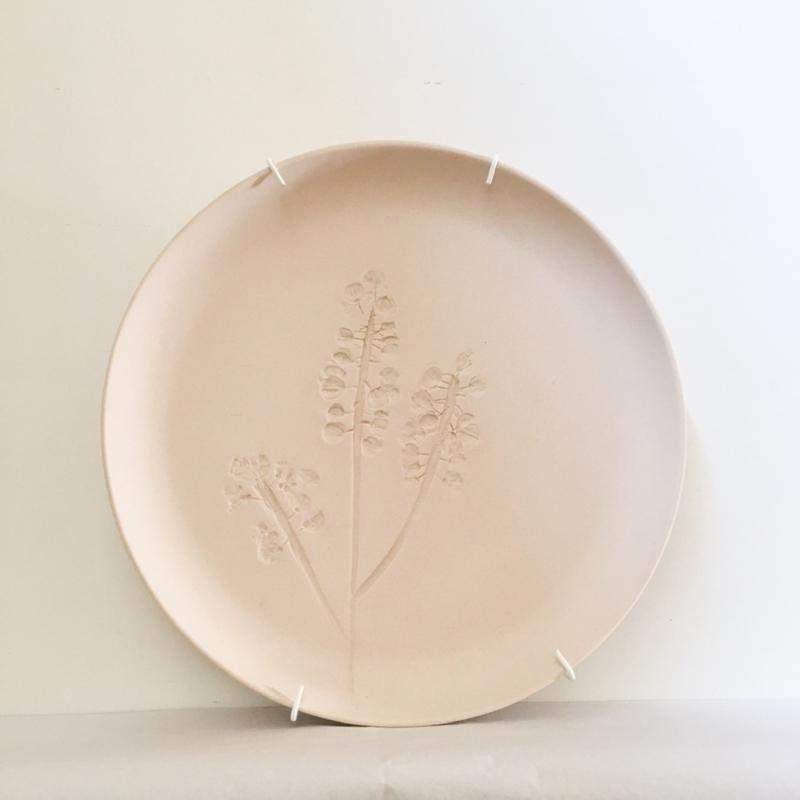 Bordje met plantenafdruk Large- Studio Harm&Elke