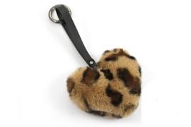 Fluffy Sleutel / Tas hanger Panter Camel