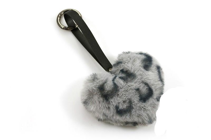Fluffy Sleutel / Tas hanger Panter Grijs