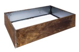 Bloembak plaatstaal 120x80x25cm zonder bodem