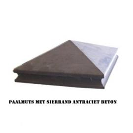 Paalmutsen vierzijdig aflopend met sierrand 37x37cm