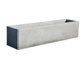 Bloembak beton 200x50x50cm grijs