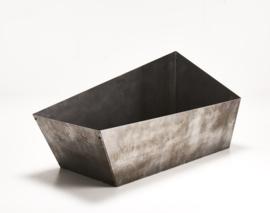 Bloembak cortenstaal 119,7x54,3x33,8-60cm