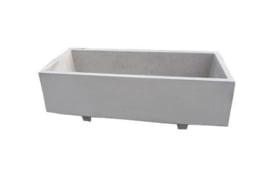 Bloembak beton 200x100x70cm grijs met voeten