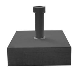 Parasolvoet beton, vierkant antraciet 39x39x12cm