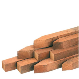 Piketpalen hardhout 5x5x40cm 25 stuks per pak