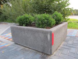 Bloembak beton 100x100x60cm grijs