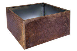Bloembak plaatstaal 60x60x40cm zonder bodem