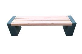 Tuinbank beton en geschaafd Douglas hout 180x45x45cm