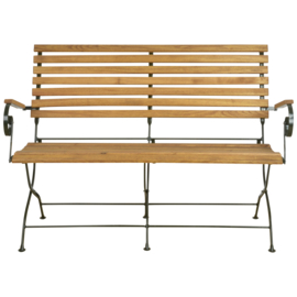 Tuinbank hout en metaal 132x63,5x88x8cm