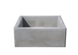 Bloembak beton 100x100x40cm grijs