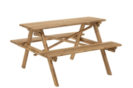 Picknicktafel bamboe 134x120x78,5cm