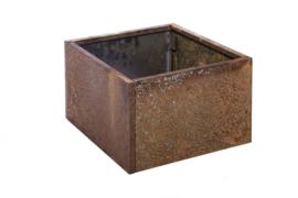 Bloembak plaatstaal 40x40x25cm zonder bodem