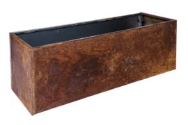 Bloembak plaatstaal 120x40x40cm zonder bodem