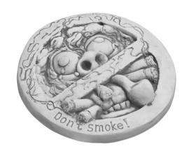 Don't smoke wandhanger, beton Ø 24cm