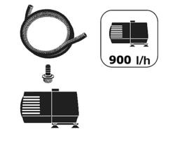 Set van 3 waterval elementen Ø21 - Ø28 - Ø35