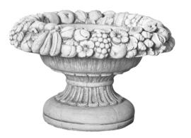 Bloembak beton, fruitrand H 40cm x Ø 61cm