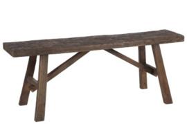 Zitbank hout 120x25x45cm