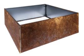 Bloembak plaatstaal 120x120x40cm zonder bodem