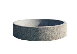 Bloembak Ø150x40cm gewassen grind