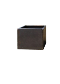 Bloembak plaatstaal 40x40x40cm zonder bodem
