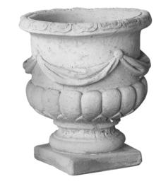 Bloembak beton, guirlandes H 32cm x Ø 28cm