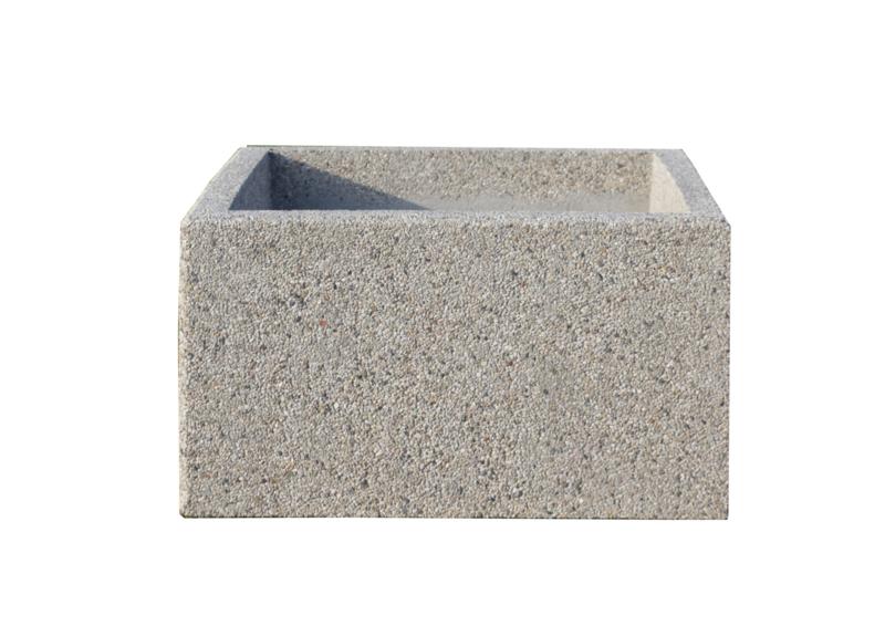 Bloembak beton 100x100x60cm gewassen grind