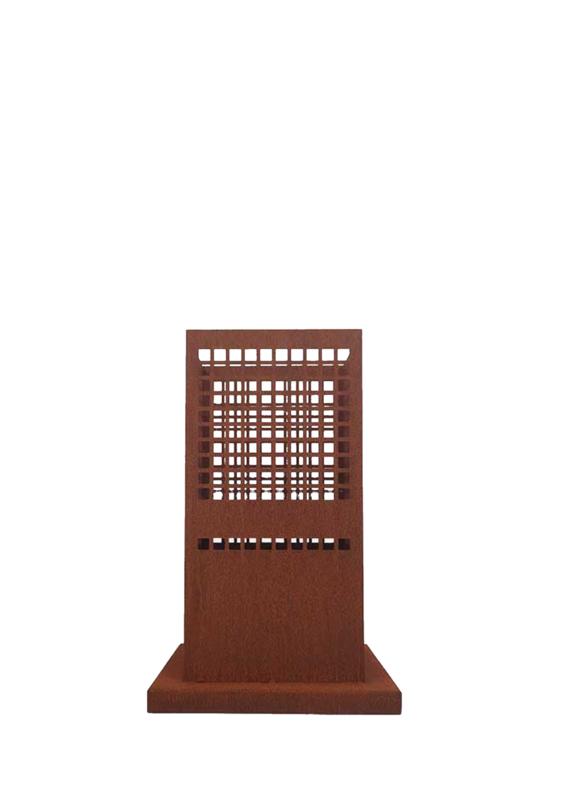 Vuurzuil cortenstaal 33,5 x 33,5 x 50cm