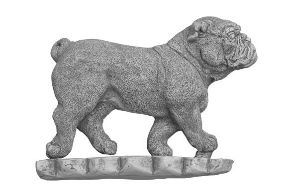 Engelse bulldog, beton BxH 24x18cm