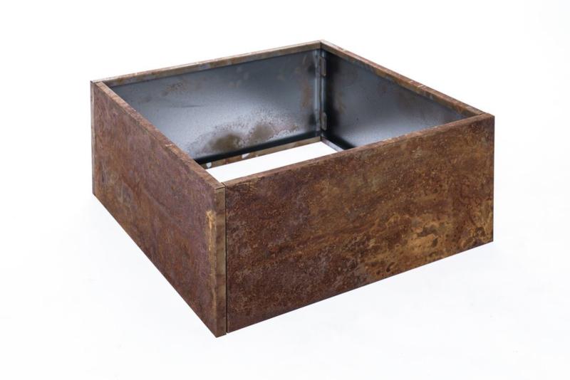 Bloembak plaatstaal 60x60x25cm zonder bodem