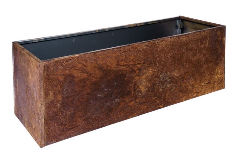 Bloembak plaatstaal 120x60x40cm zonder bodem