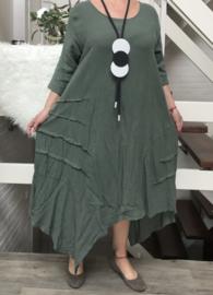 Moonshine linnen/katoen jurk/in meerdere kleuren