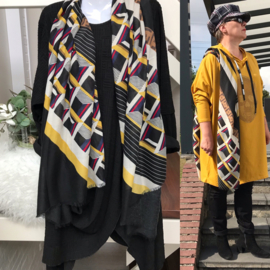 ITALIA zachte viscose/katoen sjaal