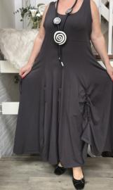 Boris jersey A-lijn jersey jurk met verstelbare plooien