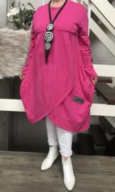 ITALIA MODE katoen jersey   A-lijn jurk stretch /in meerdere kleuren