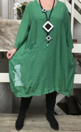 SINNE design.. viscose /linnen A-lijn jurk