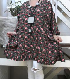 Rosana oversized A-lijn jersey tuniek/jurk met zakken apart (extra groot) stretch