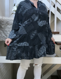 ITALIA viscose A-lijn tuniek/jurk