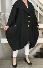ITALIA  linnen A-lijn blazer /jas