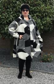 New Jersey  A-lijn jas/mantel met capuchon  wol/acryl (extra groot)