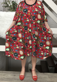 Anastasia  oversized A-lijn jersey jurk/tuniek apart (extra groot)