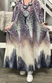 Kristel oversized chiffon jurk/poncho/wrap apart   (extra groot)