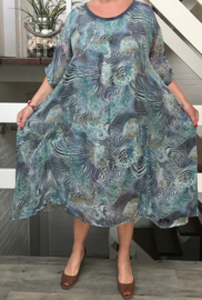 Lolita  oversized A-lijn chiffon jurk apart (extra groot)