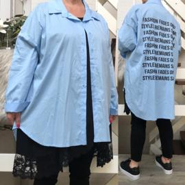 ITALIA viscose A-lijn blouse/hemd stretch /in meerdere kleuren