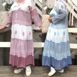 ITALIA luchtige katoen  A-lijn jurk apart/in meerdere kleuren