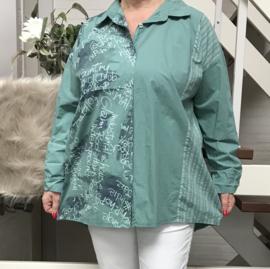 ITALIA katoen blouse/hemd stretch