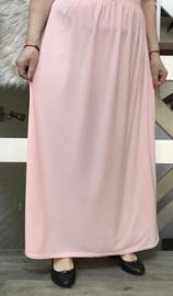 ITALIA rok met elastische tailleband roze stretch